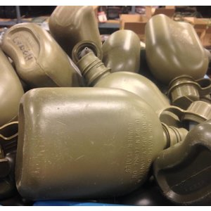 Canadian Military Surplus 1 Quart Plastic Canteen Olive Drab (Surplus / Used)