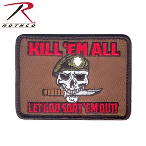 Poco Miltary KIll 'em All Patch (Velcro)