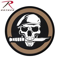 Poco Miltary Special Forces Skull Patch PVC (Velcro) Brown / Black