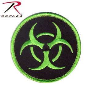Poco Miltary Bio-Hazard Patch (Velcro) Black / Green