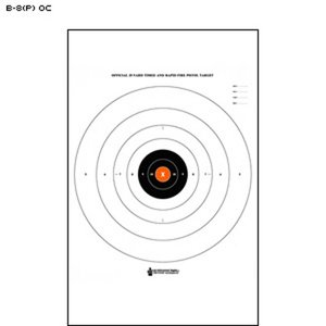 Law Enforcement Targets B-8 25 Yard Timed & Rapid Fire Target - Orange (B-8(P) OC)