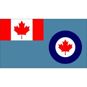 Flag Royal Canadian Airforce Command Flag RCAF (3x5)