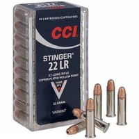 CCI/Speer CCI Stinger (.22LR 32 Grain) Copper Plated HP - 50 Rounds