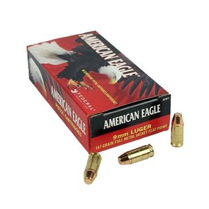 American Eagle American Eagle 9mm Luger (147 Grain) 50 Rds - Full Metal Jacket Flat Point