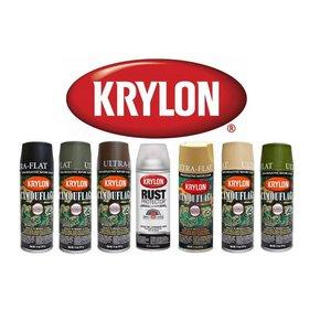 Krylon Krylon Camouflage Spray Paint - Black (Ultra Flat)