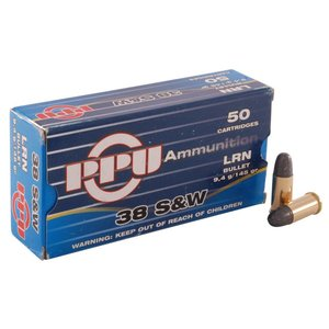 PPU 38 S&W Ammo 145gr 50 rd box