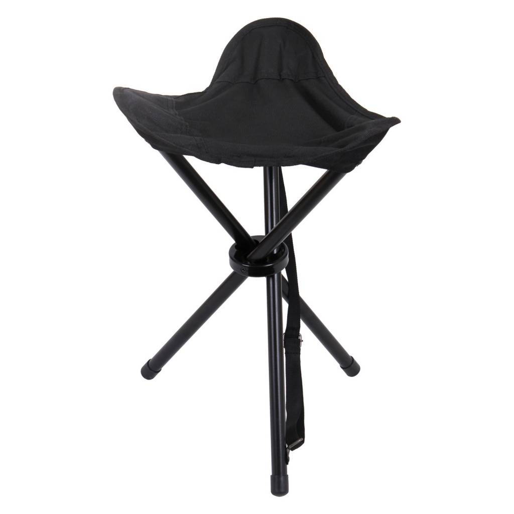 Black Collapsible Stool 4584 Poco Military