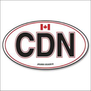 Jailbird CDN (Canada) Oval Sticker