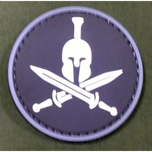 China Spartan Helmet PVC Patch - Round