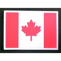 Red & White Canadian Flag PVC Patch