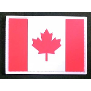 China Red & White Canadian Flag PVC Patch