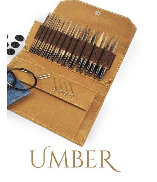 """LYKKE Driftwood Umber 3.5"""" Circular Needle Set"""