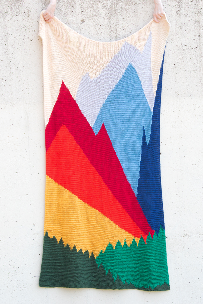 Intarsia Mountain by Heidi Gustad