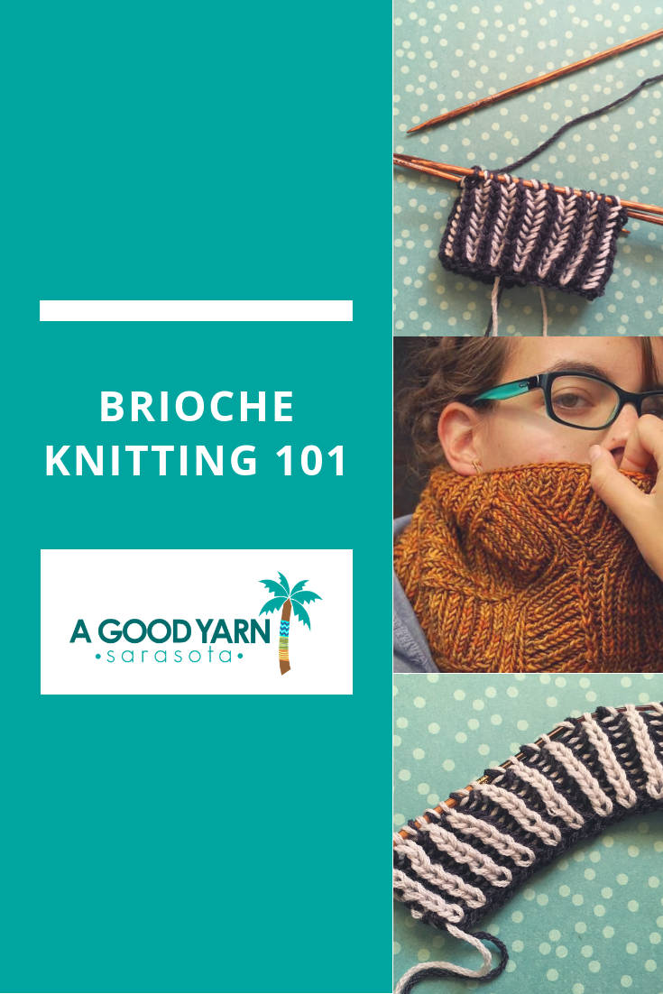 Brioche Knitting 101 with A Good Yarn Sarasota and Bristol Ivy