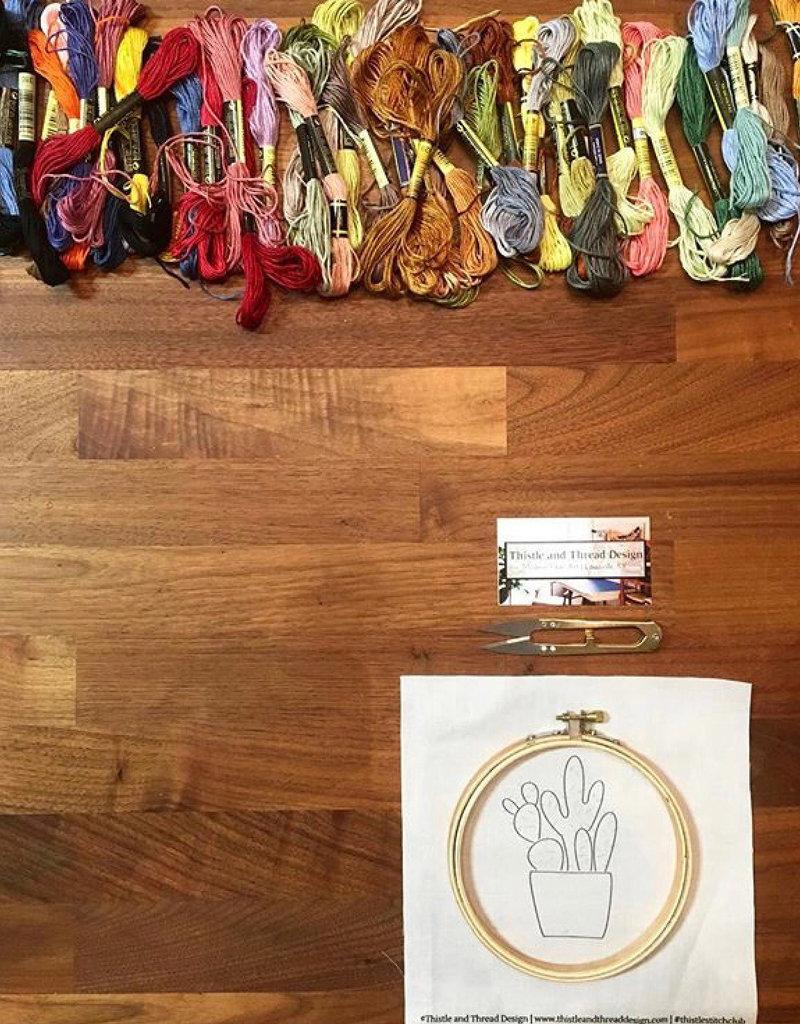 Beginning Modern Hand Embroidery Saturday, 4/13 10am-12pm