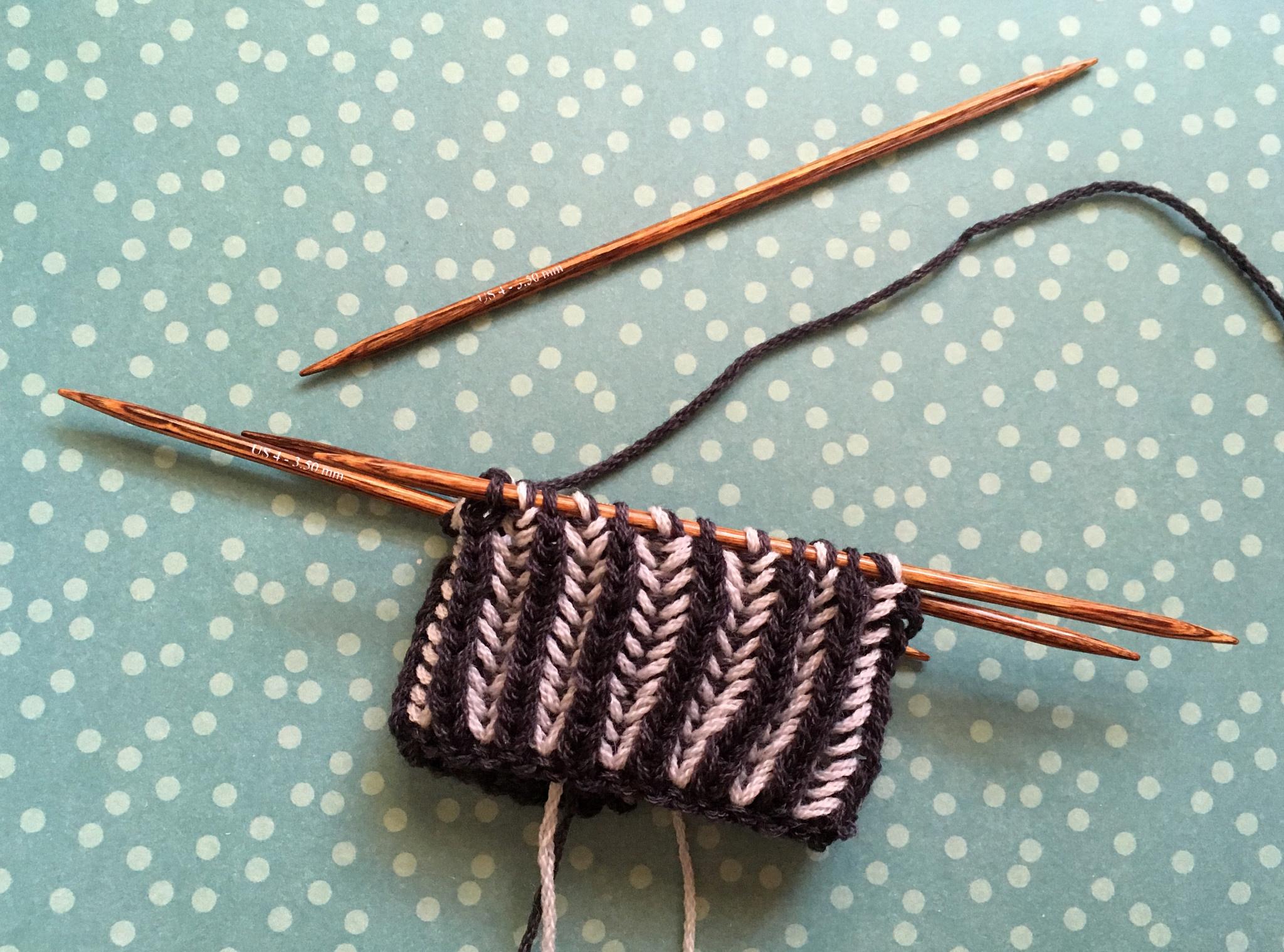 two color brioche knitting with a good yarn boca chica yarn