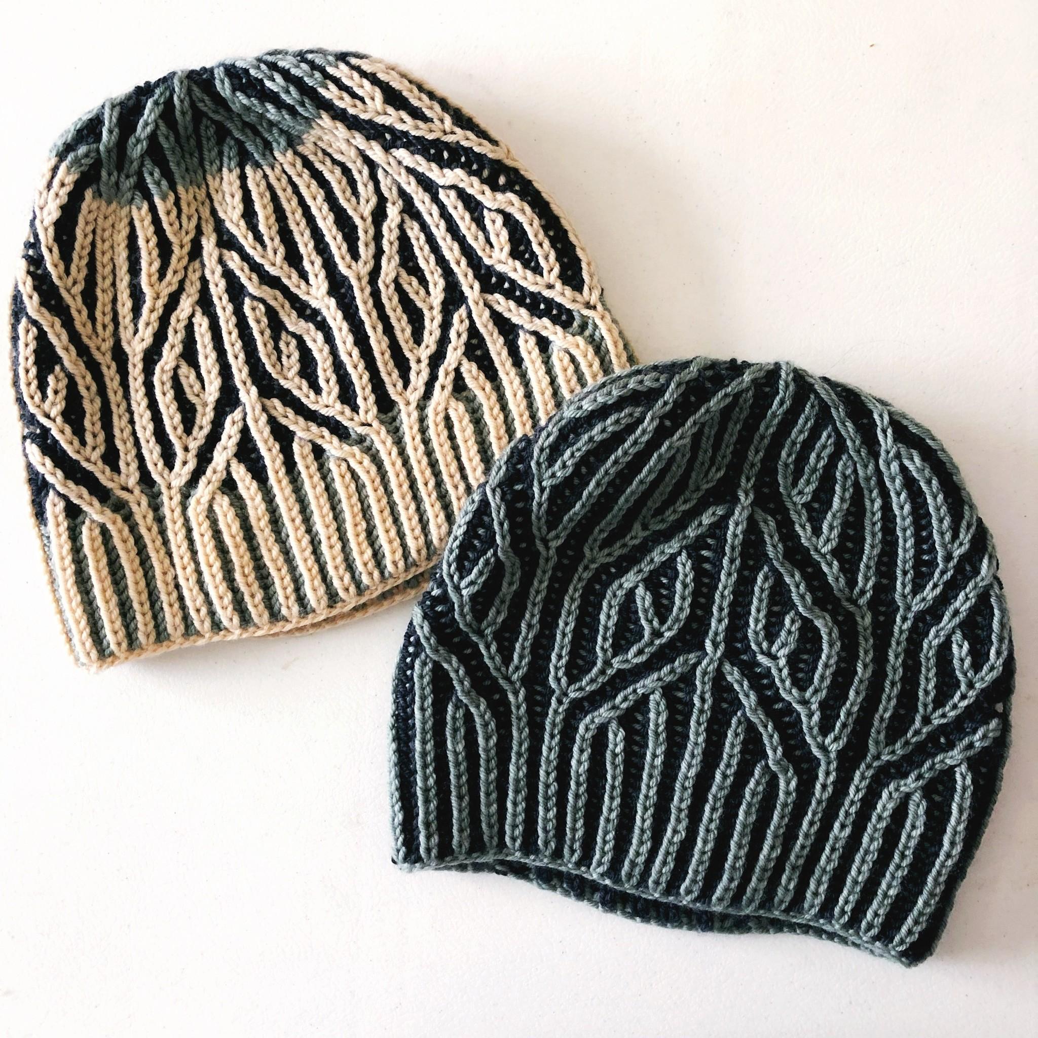 autumn vibes hat brioche knitting pattern
