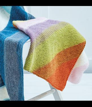 Pattercake Diagonal Garter Blanket