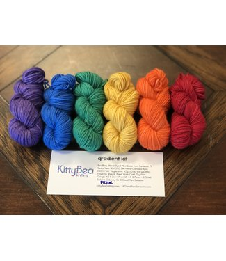 KittyBea Knitting KittyBea Siesta Gradient Kit Pride