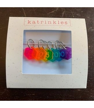 Katrinkles Katrinkles Rainbow Counting Stitch Markers