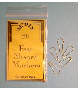 BRYSON DISTRIBUTING Pear Pins Gilt Brass