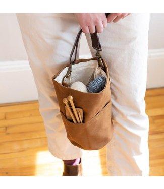 Twig & Horn Canvas Bucket Bag