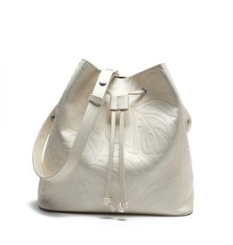 Happy Wahine Handbag Noelani Monstera Embossed Ivory