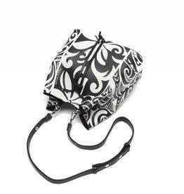 Happy Wahine Handbag Noelani Tapa Tiare Black