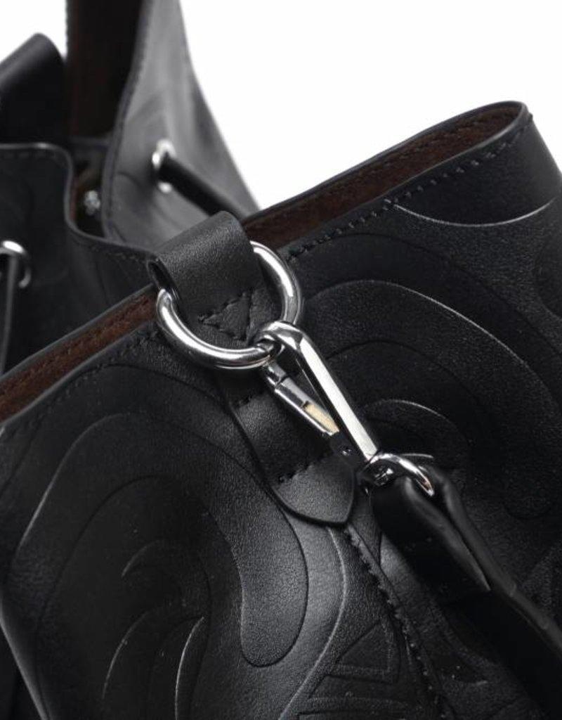 Handbag Noelani Tapa Tiare Embossed Black