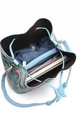 Happy Wahine Handbag Noelani Bird of Paradise Blue