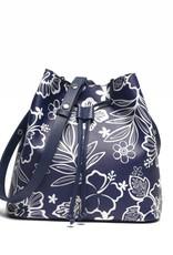 Happy Wahine Handbag Noelani Hibiscus Blossom Blue
