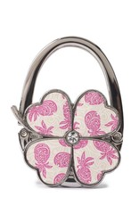 Purse Hook Clover Tapa Pineapple Pink