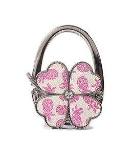 Everyday Hawaii Purse Hook Clover Tapa Pineapple Pink