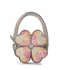Purse Hook Clover Coral Beige