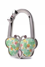 Purse Hook Butterfly Spring Pineapple Beige