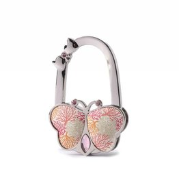 Happy Wahine Purse Hook Butterfly Coral Beige