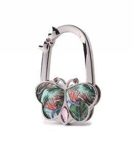 Purse Hook Butterfly Bird of Paradise Blue