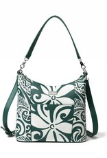 Happy Wahine Hobo Bag Sara Tapa Tiare Warrior Green