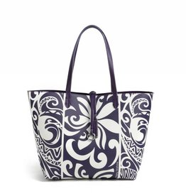 Happy Wahine Rev Tote Nancy Tapa Tiare Purple Large