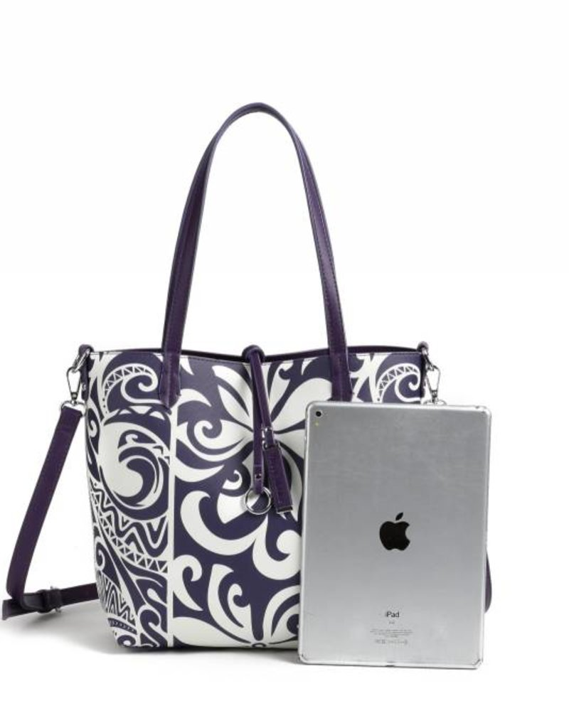 Rev Tote Nancy Tapa Tiare Purple Small