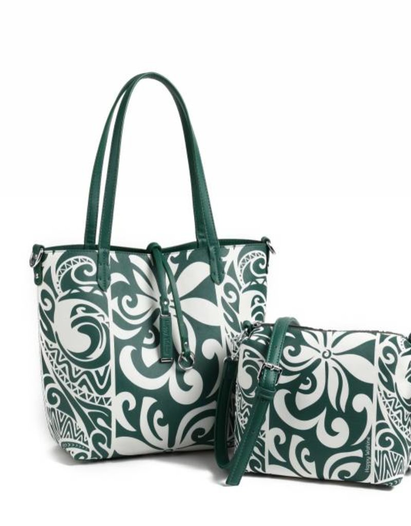 Rev Tote Nancy Tapa Tiare Warrior Green Small