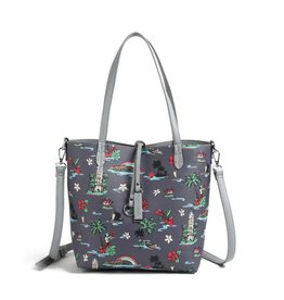 Happy Wahine Rev Tote Nancy Waikiki Grey Small
