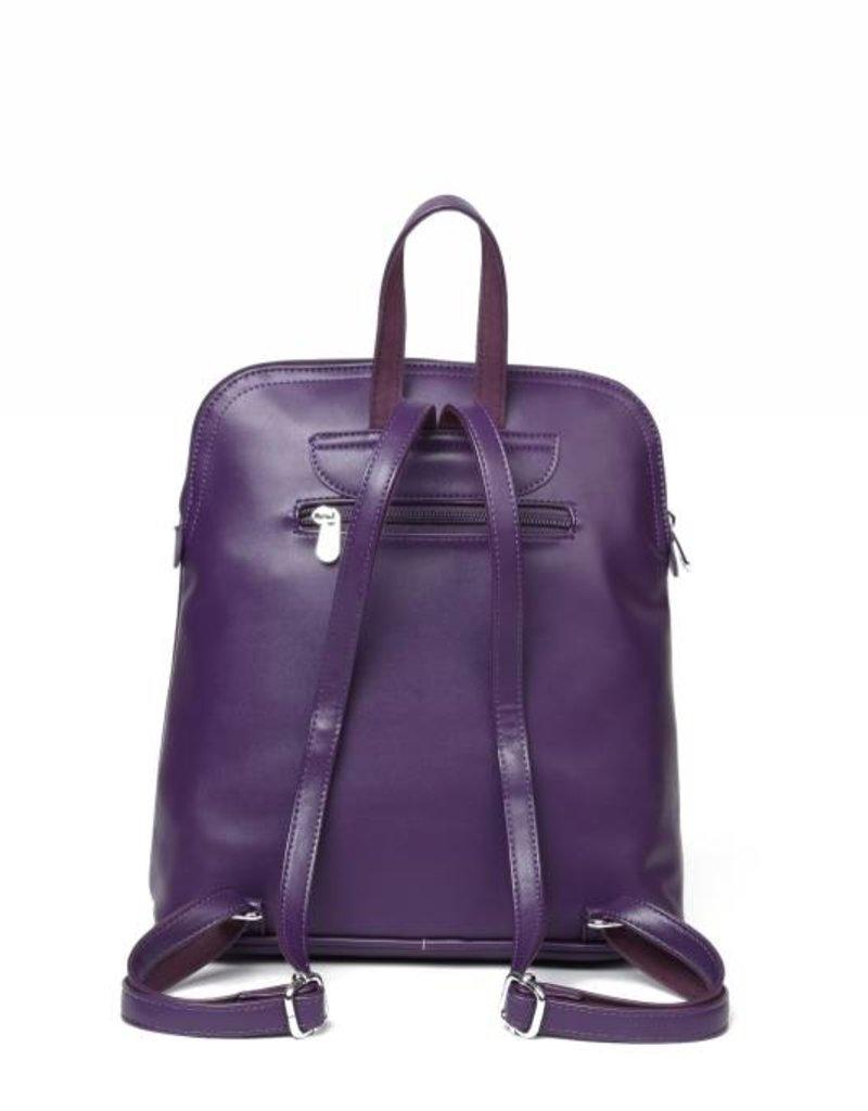 Happy Wahine Backpack Sasha Tapa Tiare Purple Embossed
