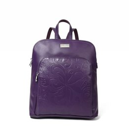 Happy Wahine Backpack Sasha Tapa Tiare Purple Embossed