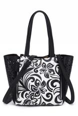 Happy Wahine Handbag Amy Hibiscus Black Small