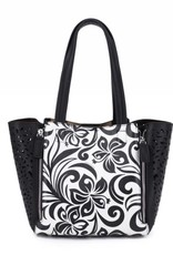 Handbag Amy Hibiscus Black Small