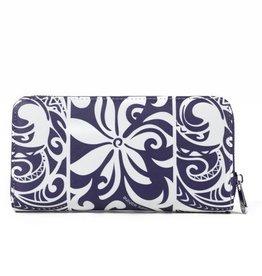 Happy Wahine Wallet Kaylee Tapa Tiare Purple