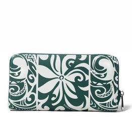 Happy Wahine Wallet Kaylee Tapa Tiare Warrior Green
