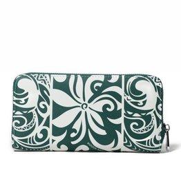 Wallet Kaylee Tapa Tiare Warrior Green