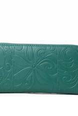 Wallet Kaylee Tapa Tiare Warrior Green Embossed